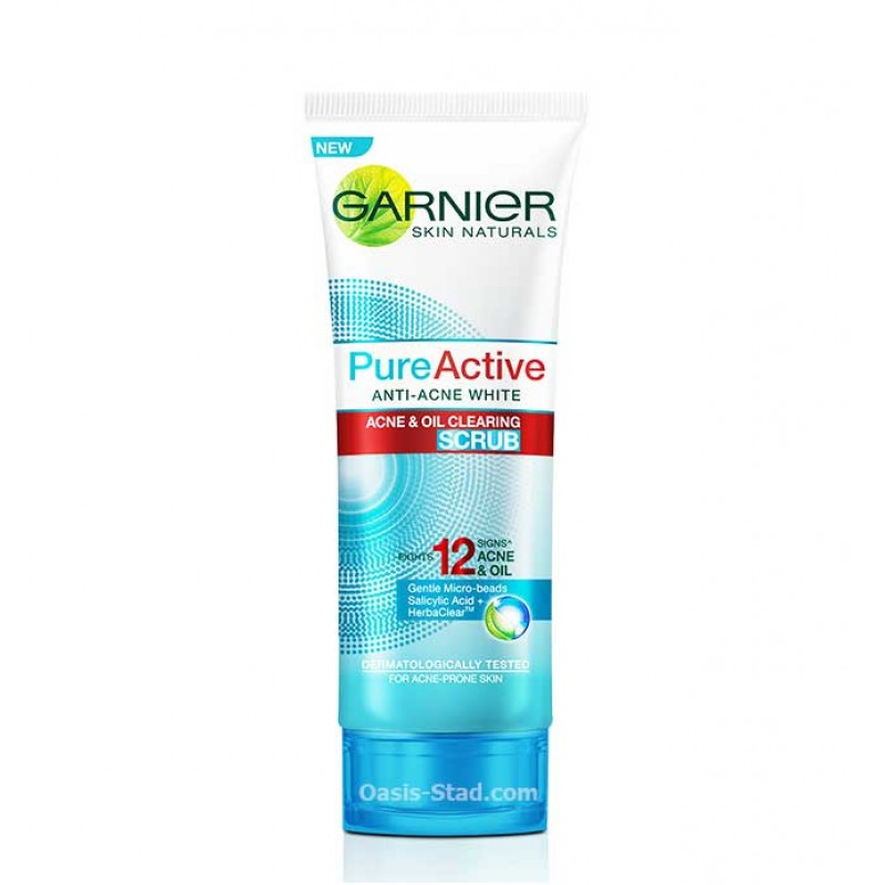 Garnier PureActive Anti-Acne White Acne & Oil Clearing Scrub