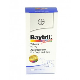 Baytril  50mg  for Dogs  & Cats ( Flavour)