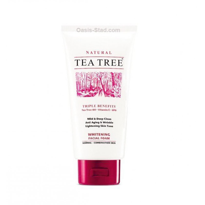Tea Tree Natural Whitening Facial Foam Cleanser